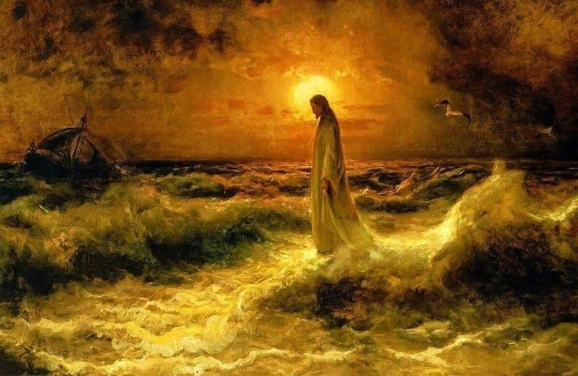 Christ-Walking-On-The-Waters-Julius-Sergius-Klever